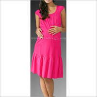HYMD1687 - Round neck cotton dress with pockets