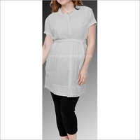 HYMT1362 - Calf length top with pintuck detailing and belt