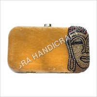 Printed Velvet Clutch Bag