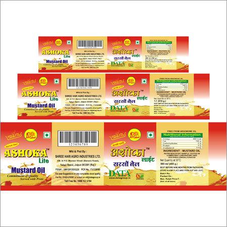Pet Bottel Paper Label