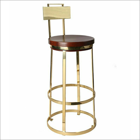 Iron Bar Chair with Brass Finish