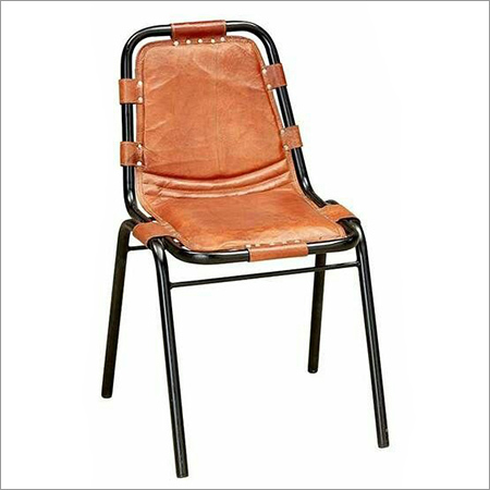 Iron Pipe Leather Chair