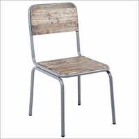 Iron Pipe Restaurant Chair with Wooden Seat