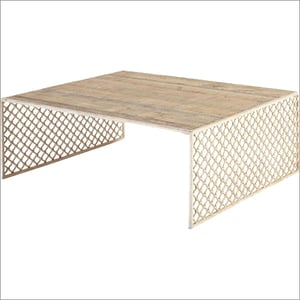 Coffee Table With Iron Jali
