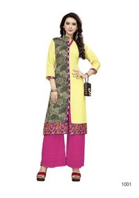 Slub Cotton Embroidery Kurti