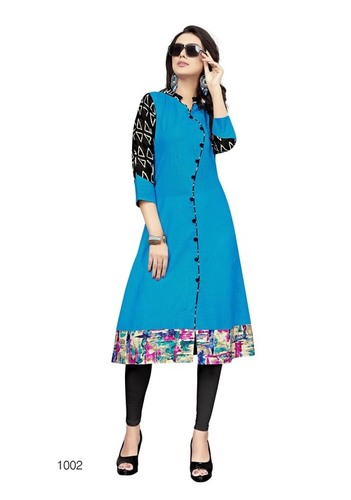 New slub cotton kurti