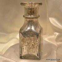 Gold Luster Decanter,Decanter and Glasses Set,Silver Decanter,Vintage Decanter Bottle