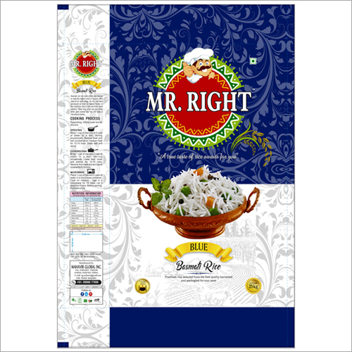Mr Right Basmati Rice 25kg Blue
