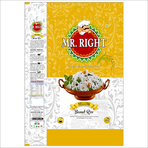 Mr Right Basmati Rice 25kg Yellow
