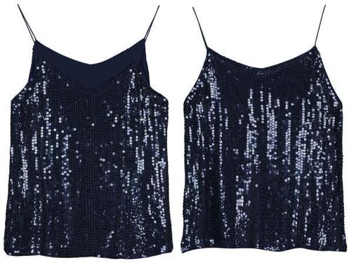 Embellished sequin Blouse with straps