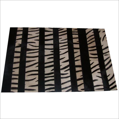 Hair on Leather Printed Rug