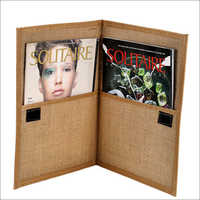 Jute Magazine Folder