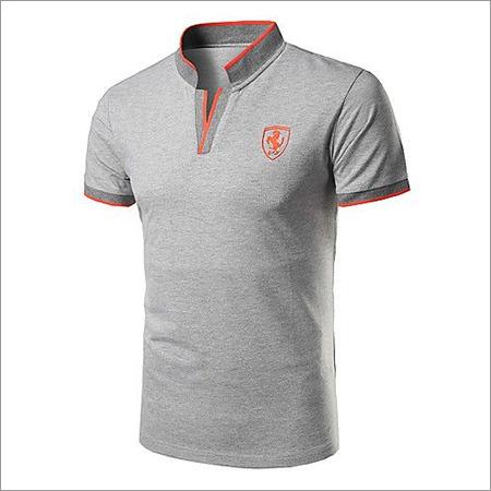 Men's Short Sleeve Chinese Collor T-Shirt