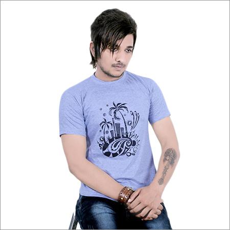 Men's Round Neck Designer Print T-Shirt