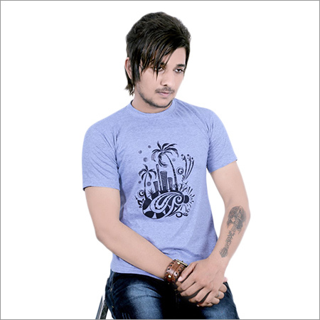 Mens Round Neck Designer Print T-Shirt