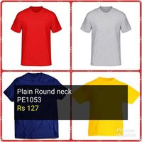 Plain Round Neck T-Shirt
