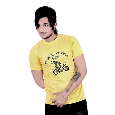 Mens Round Neck Trendy T-Shirt