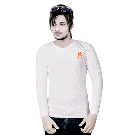 Mens V Neck Long Sleeve T-Shirt