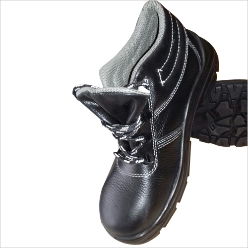 Mens Low Ankle Black Safety Shoes