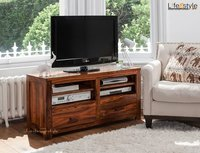 Sheesham wood Tv Stand with 2 drawers