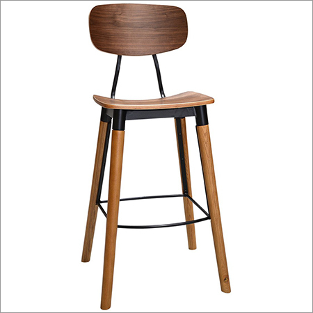 Square Wooden Top Bar Chair