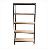 Wooden and Iron 5 Tier Bookshelves