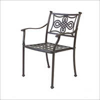 Cast Aluminium Knot Chair Satin Black