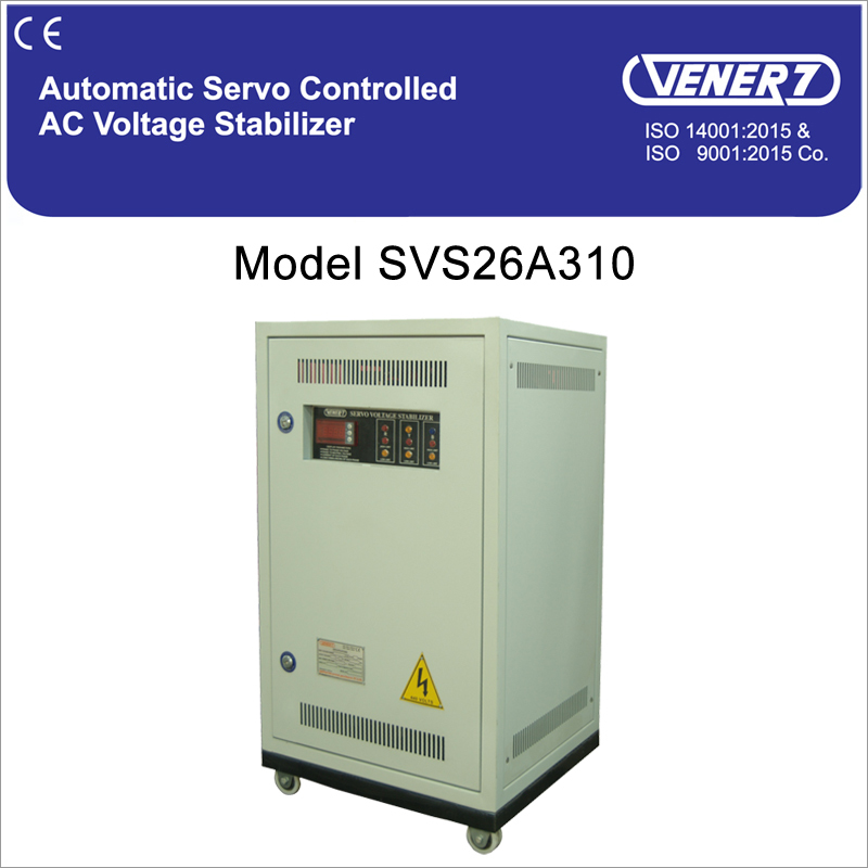 10kVA Automatic Servo Controlled Air Cooled Voltage Stabilizer