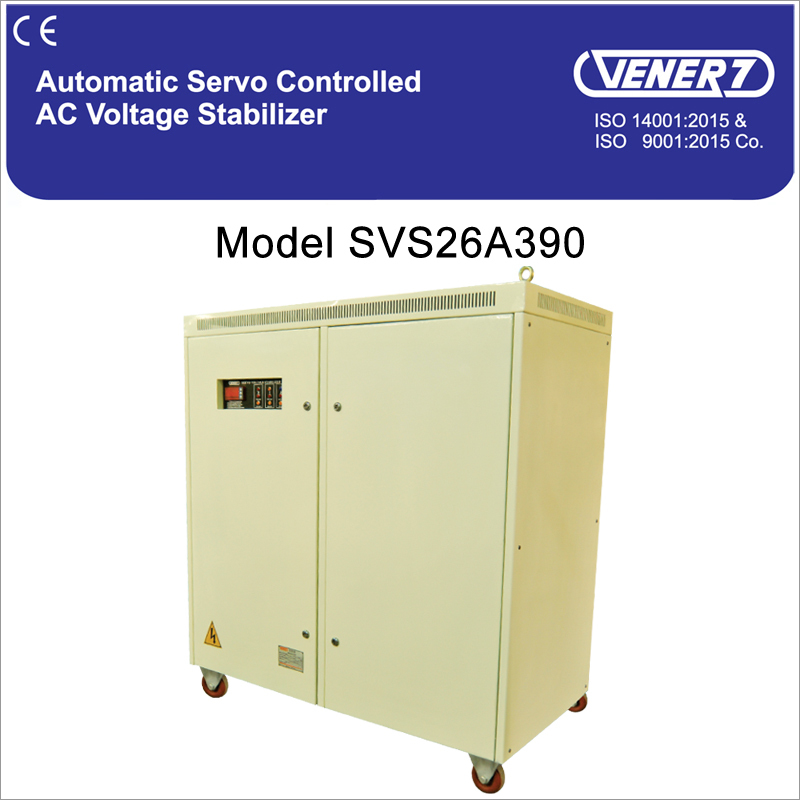 90kVA Automatic Servo Controlled Air Cooled Voltage Stabilizer