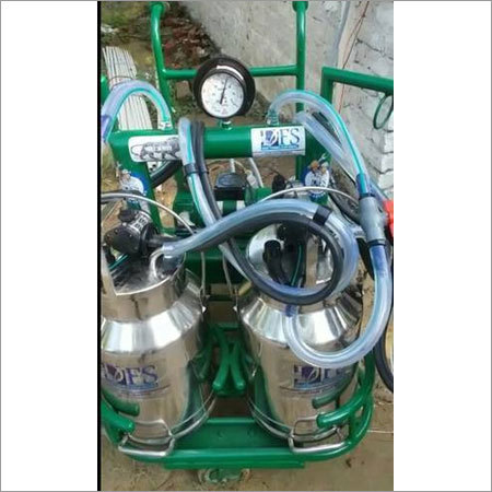 Trolley Type Double Bucket Milking Machine