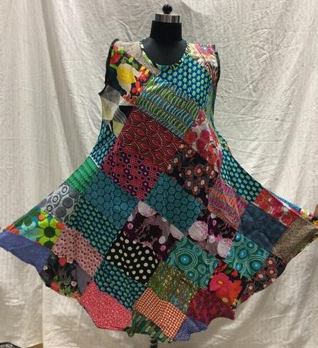 Ladies Patchwork Umbrella Dress