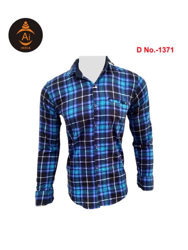 Men's Cotton Checks Designed Shirt