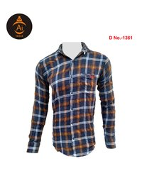 Men's Cotton Checks Designed Shirt