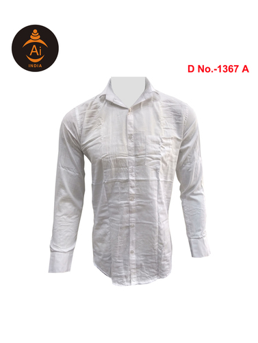 Men's Cotton Casual Plain Shirts