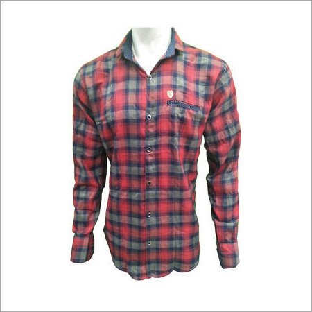 Men's Cotton Casual Checks Shirt