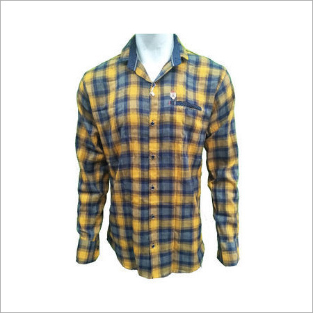 Men's Cotton Casual Slim Fit Checks Shirt