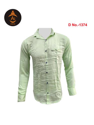 Men's Latest Attractive Plain Cotton Casual Shirt