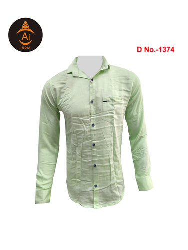 Men's Latest Attractive Plain Cotton Casual Shirt