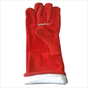 Generic Red Leather Welding Gloves