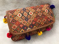 Tussar Silk Colourful Clutch