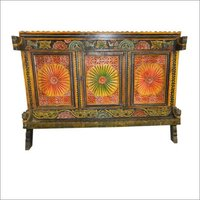 Wooden Carved Chest Old