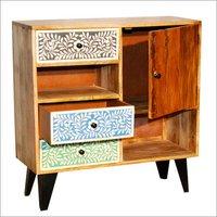 Wooden 3 Drawer 1 Door Sideboard