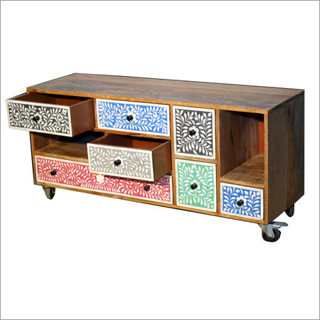 Wooden 7 Drawer Plazma