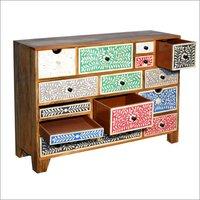 Wooden 14 Drawer Chest