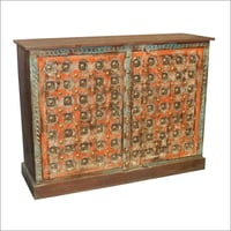 Wooden Brass Fitted Side Board