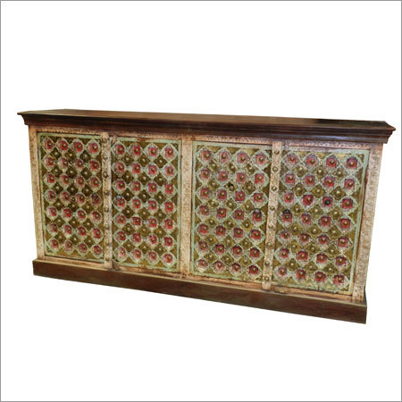 Brass Wooden Side Board