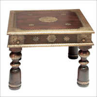 Wooden Brass Fitted Coffee Table