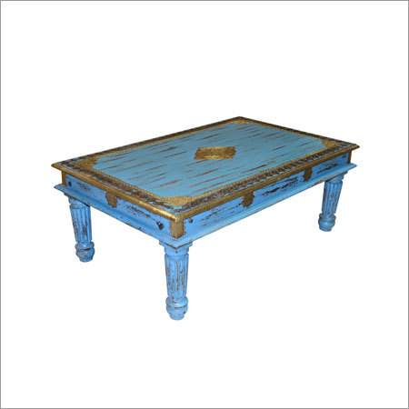 Reclaimed Brass Fitted Coffee Table