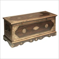Wooden Brass  Trunk