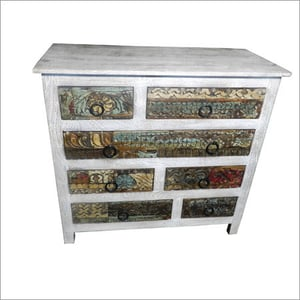 Carved Reclaimed Wooden Sideboard